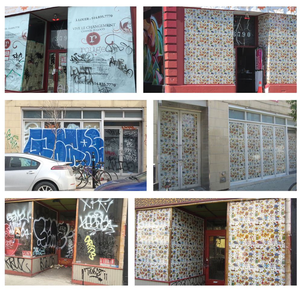 ARTISTIC INSTALLATION IN VACANT WINDOWS